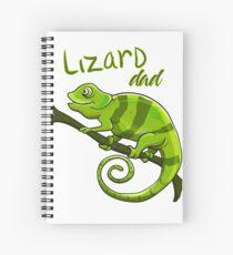 Cuaderno de espiral Camisa del amante del lagarto Camiseta del cumpleaños del regalo del papá del lagarto