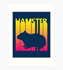 Retro 1980s Hamster Art Print