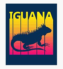 Retro 1980s Iguana Photographic Print