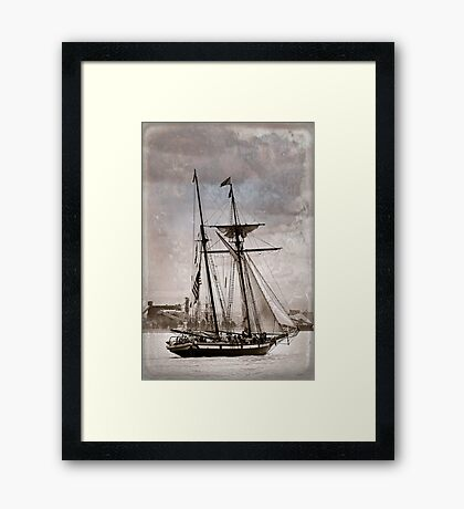 Gaff Rigged Clipper Framed Print