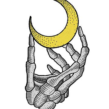 Skeleton hand and moon, by sager4ever