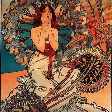 Monaco Monte Carlo.1897,Alphonse Mucha,litography by love999