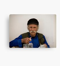 Mustachioed Greek Canvas Print
