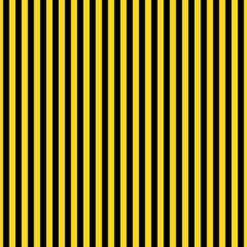 Yellow and Black Honey Bee Vertical Deck Chair Stripes by podartist