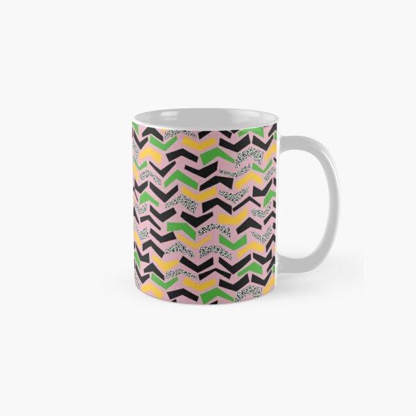 CHEVRONS OFFSET, crushed pink, yellow, green, black Classic Mug