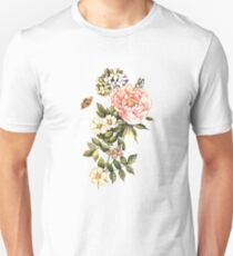 Watercolor vintage floral motifs T-Shirt
