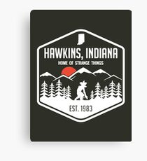 Hawksins Indiana Home Of Stranger Things Canvas Print