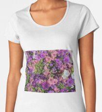 Pattern di fiori Women's Premium T-Shirt