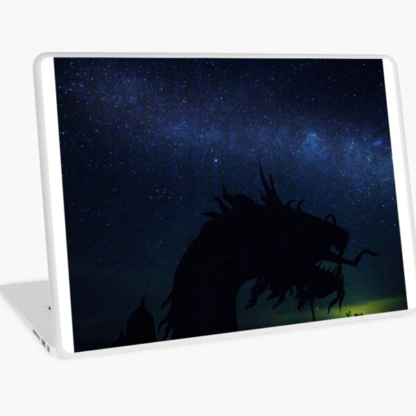 Sea Serpent and the Milky Way Laptop Skin