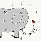 Elefant mit Blümchen von Simone Abelmann