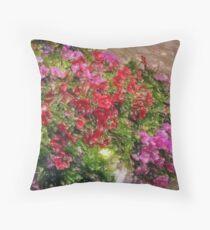 Red e Pink flower Throw Pillow