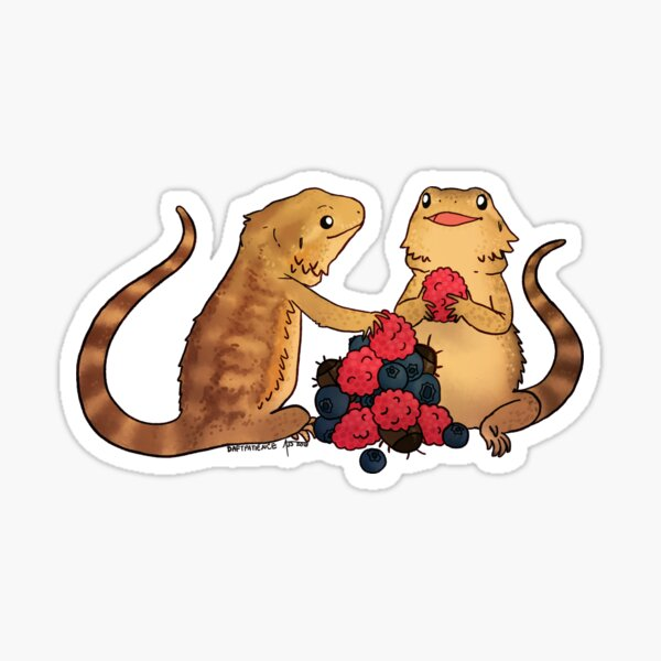 Beardies: Lucy and Lizzy Sticker