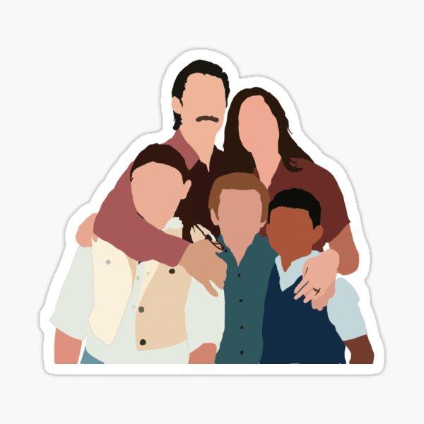 Esta es nuestra familia Pegatina