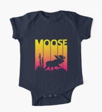 Retro 1980s Moose One Piece - Short Sleeve