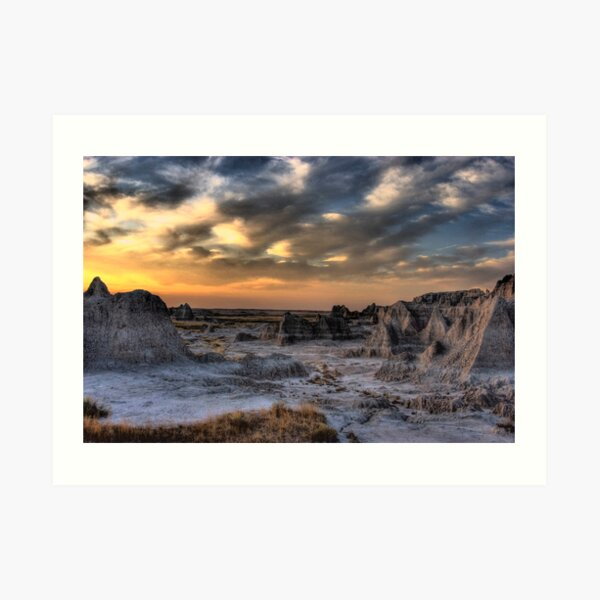 Sunset in the Badlands Art Print