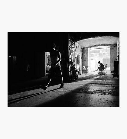 Back Stage At Teatro Opera Bellini Catania Photographic Print