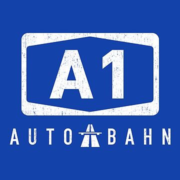 GERMAN AUTOBAHN A1 SYMBOL IN CRACKED DESIGN by SUBGIRL