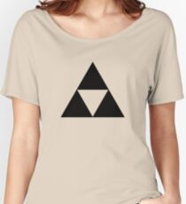 Triforce - Ancient Magical Symbol, Sierpinski Triangle Women's Relaxed Fit T-Shirt