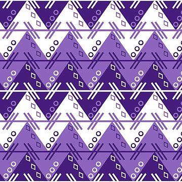 Aztec Chevron Dress | Clemson Purple by CollegeTown