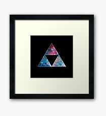 Triforce - Ancient Magical Symbol, Sierpinski Triangle Framed Print
