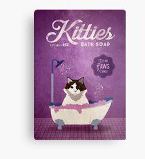 Kitties Bath Soap Company Cat Artwork Metal Print