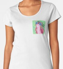 Green Flower Women's Premium T-Shirt