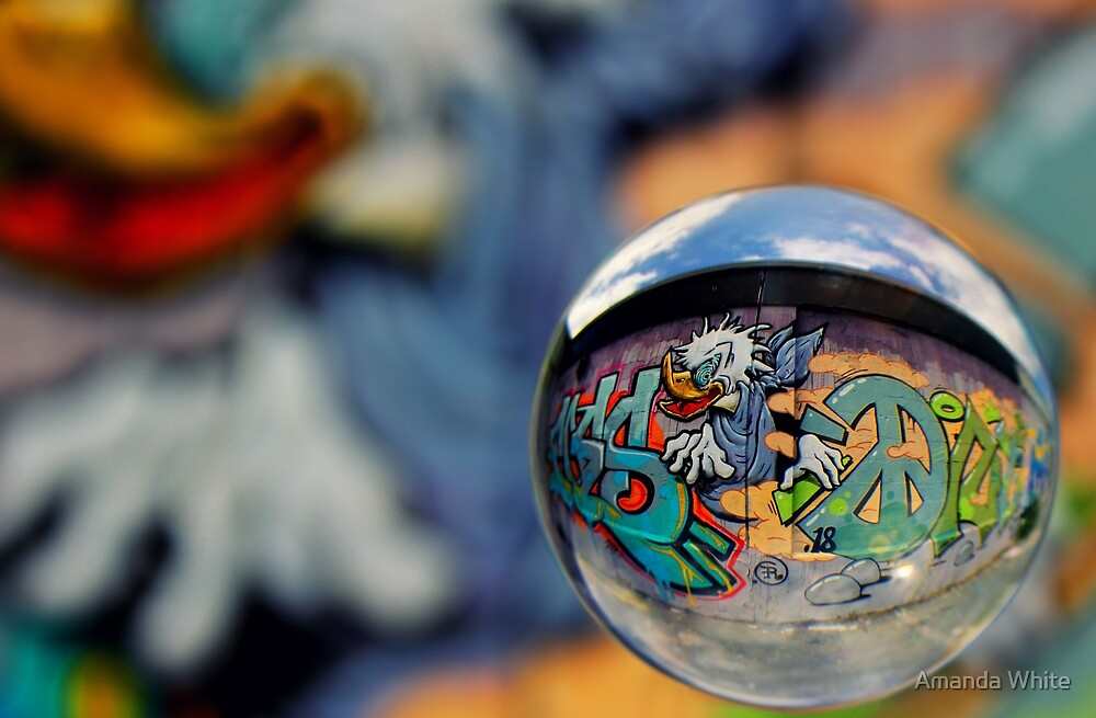 Graffiti Ball 1 by Amanda White
