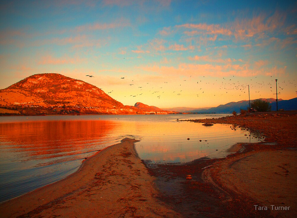 Okanagan Lake in October 2 by Tara  Turner