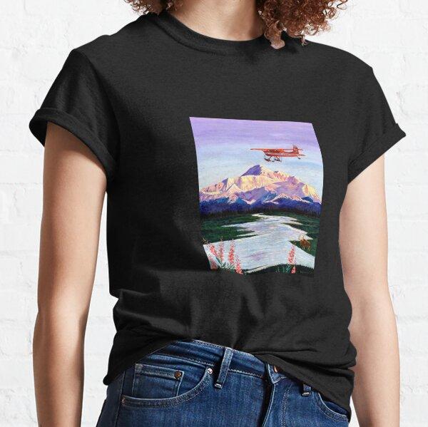 Denali Mountain Painting, K2 Aviation, Living Room Painting, Alaska Mountain, Gift for Pilot, Scott Clendaniel, Alaska Aviation, Mt McKinley Classic T-Shirt