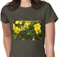 Emerald Beetle Womens Fitted T-Shirt