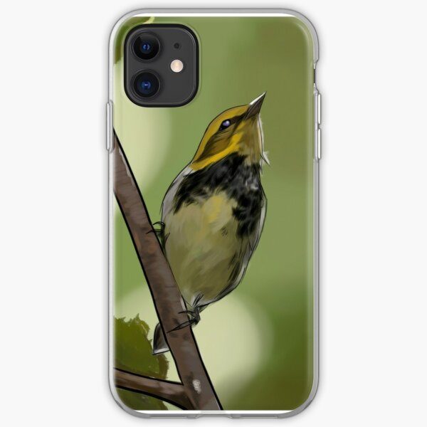 Black Throated Green Warbler iPhone Soft Case