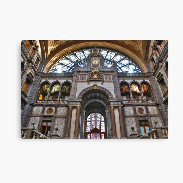 Antwerpen, Railway Station  Canvas Print