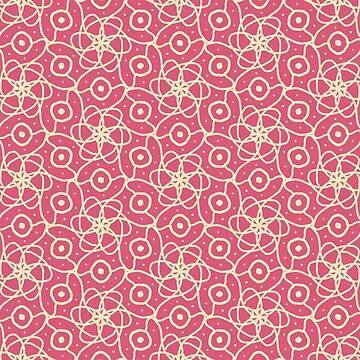 Pink and cream pattern by RocketStarD