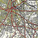 Wolverhampton Old Map by danbadgeruk