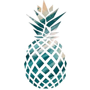 Tropical Pineapple Teal by Brushedinbold