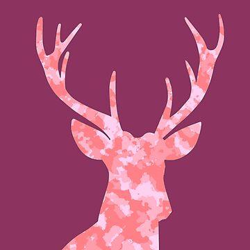 Pink Camo Deer by miniverdesigns