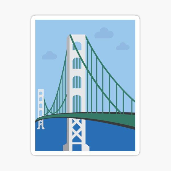 Michigan's Mackinac Bridge Sticker