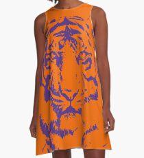 Royal Tiger Spieltag Kleid | Clemson Orange A-Linien Kleid