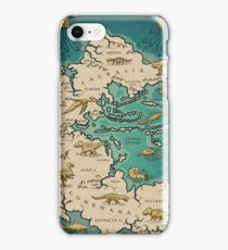 map of the supercontinent Pangaea iPhone Case/Skin