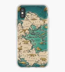 map of the supercontinent Pangaea iPhone Case