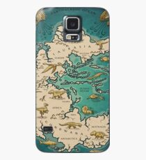 map of the supercontinent Pangaea Case/Skin for Samsung Galaxy