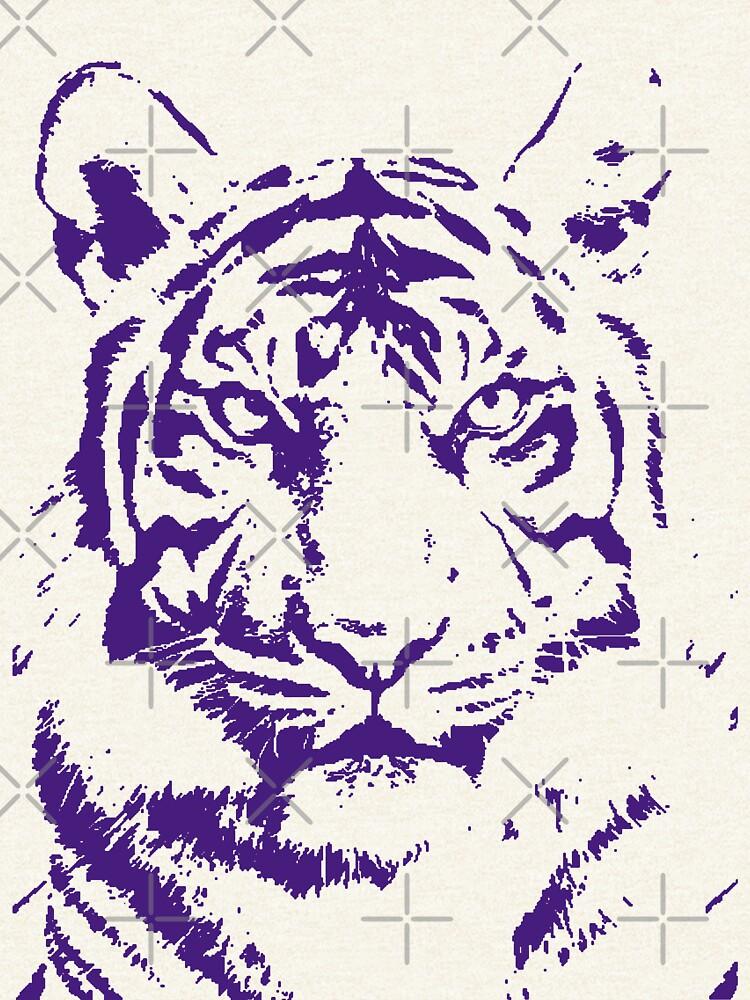 Royal Tiger Gameday Dress   Bayou Bengal Purple by CollegeTown