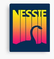 Retro 1980s Nessie Canvas Print