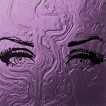 Beautiful female eyes, long fake lashes, make up eyes, pink metallic, trending,girly,chic,glam,shine,glam girl by love999