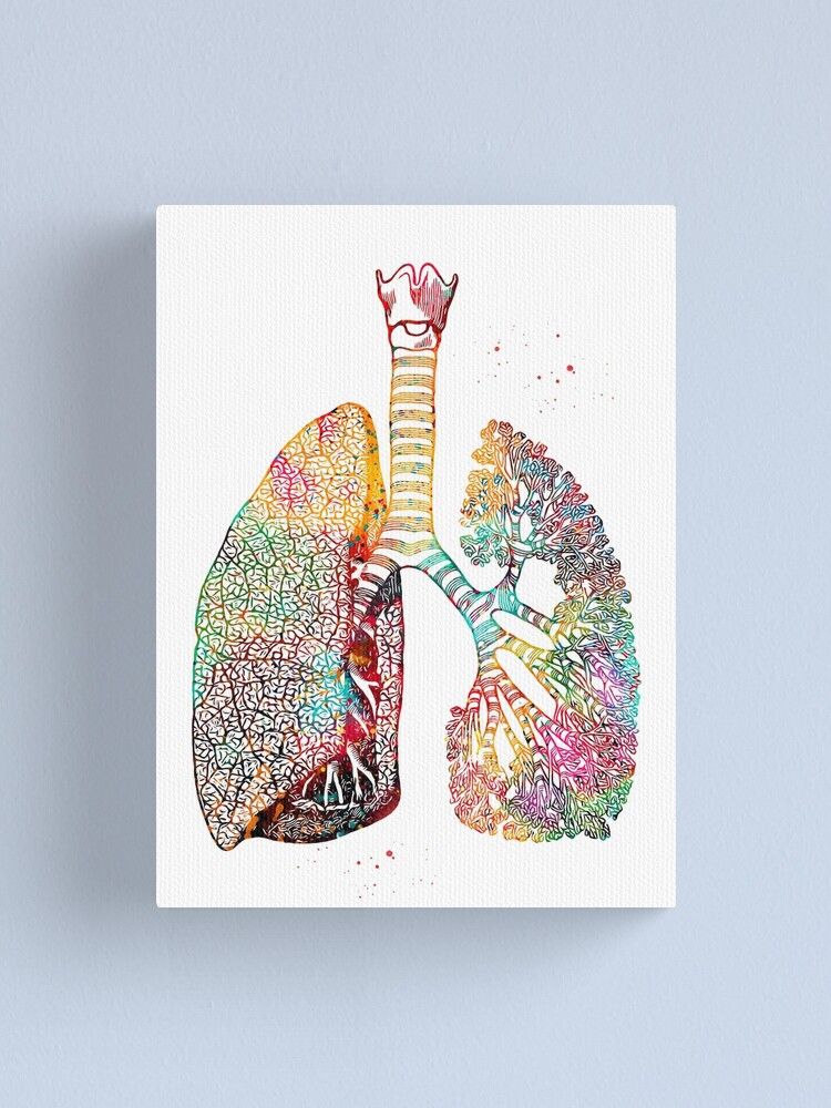 Alternate view of Lungs Art Canvas Print