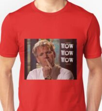 Wow Wow Wow an Astonished Chef Unisex T-Shirt