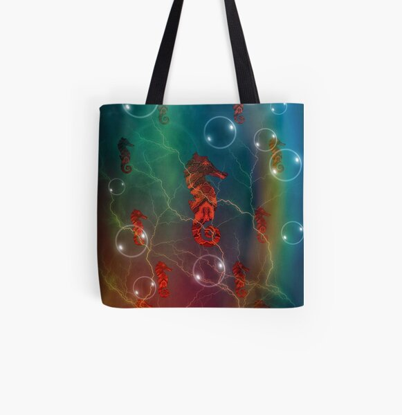 Seahorse Family All Over Print Tote Bag