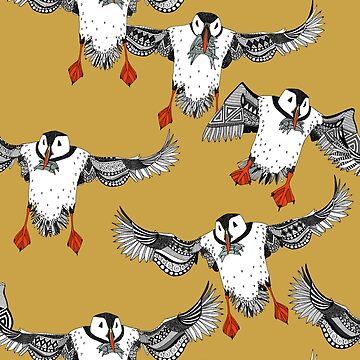 Atlantic Puffins gold by scrummy