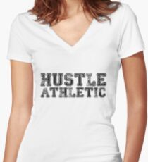 Hustle Athletic Women's Fitted V-Neck T-Shirt