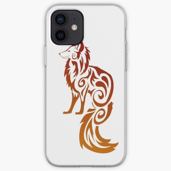 Firey Red Tribal Fox Kitsune iPhone Soft Case